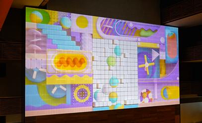 """科视纯激光投影机,让日本工学院的""""动态墙""""活力四射-阿思腾"""